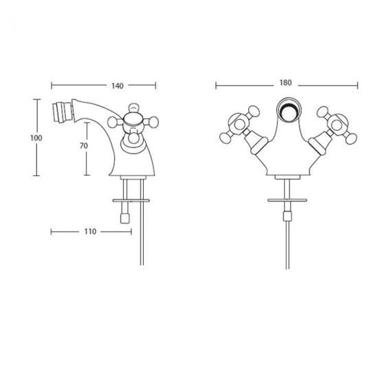 Imperial Westminster Bidet Mixer Monobloc Specification