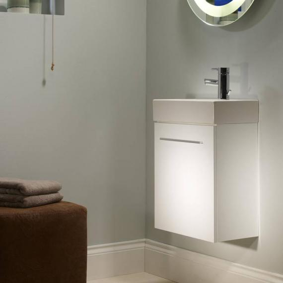 Tavistock Kobe 450mm Gloss White Wall Mounted Unit & Basin - Image 2