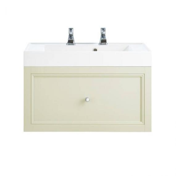Heritage Caversham Oyster Wall Hung Vanity Unit With Hampstead Basin