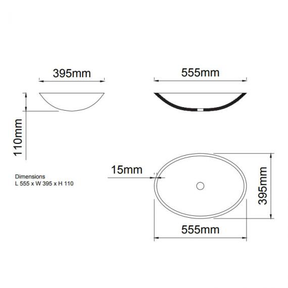 Ashton & Bentley Kos Oval Basin Specification