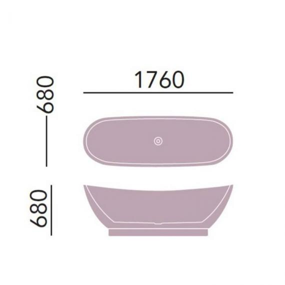 Heritage Merrivale Double Ended Freestanding Bath Specification