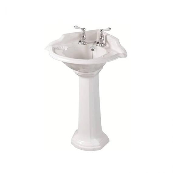 Imperial Oxford Corner Basin and Pedestal