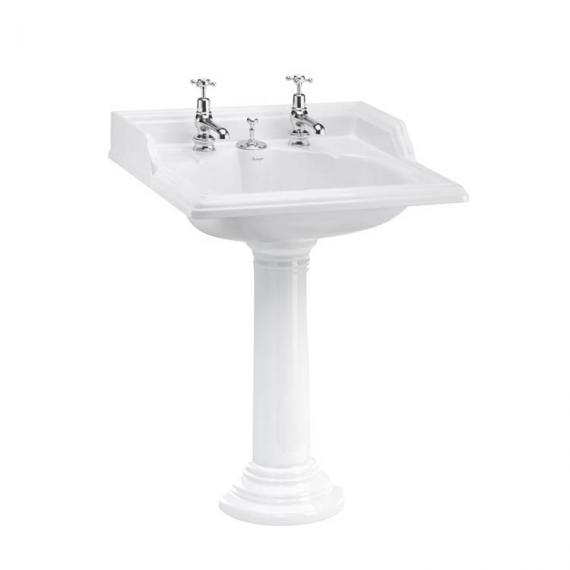 Burlington Classic Basin with Invisible Overflow and waste with Regal Pedestal