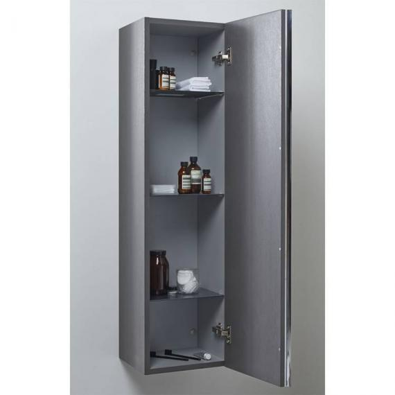 Roper Rhodes 320mm Mirrored Charcoal Elm Storage Unit - Image 2