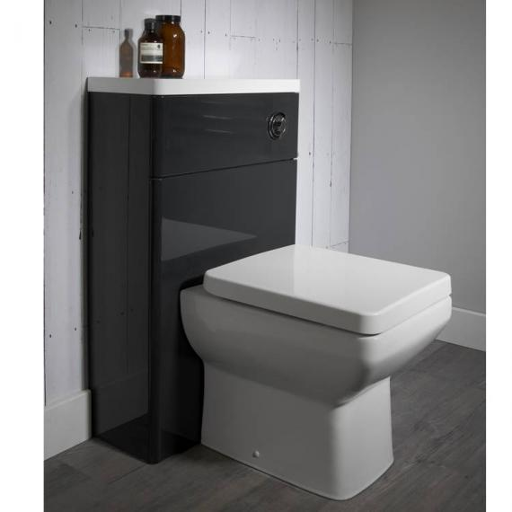 Tavistock Q60 500mm Back To Wall Graphite WC Unit