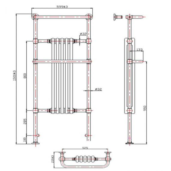 Phoenix Ella Bathroom Radiator spec