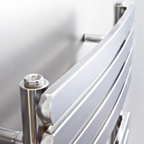 Phoenix Olivia Curved Electric Chrome Designer Radiator - detail