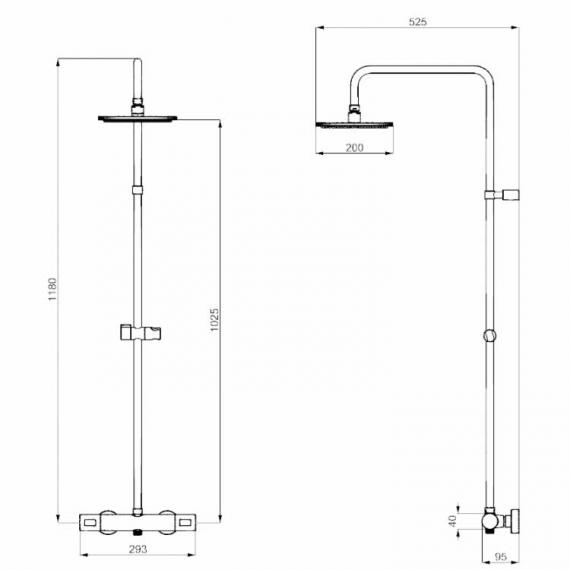 rosswater Design Multifunction Thermostatic Shower Valve Kit Specification