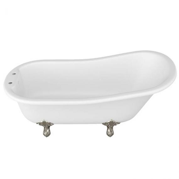 Arcade Sackville Natural Stone Freestanding Bath & Nickel Feet