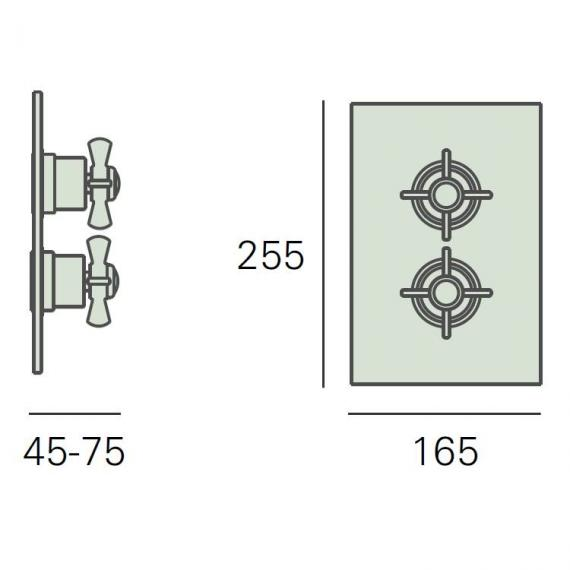 Heritage Dawlish Recessed Thermostatic Shower Valve Specification