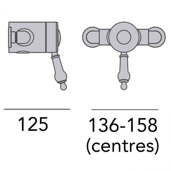 Heritage Glastonbury Single Control Exposed Shower Valve - Bottom Outlet Specification