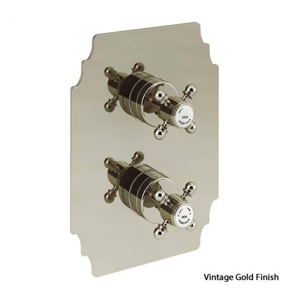 Heritage Hartlebury Vintage Gold Recessed Thermostatic Shower Valve