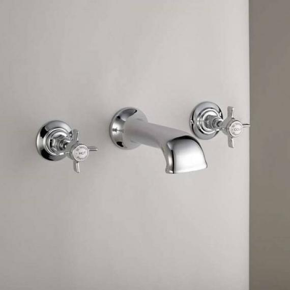 St James Collection 3 Hole Wall Mounted Bath Filler - England Handle