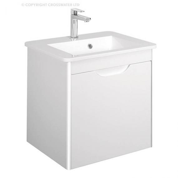 Bauhaus Solo White Gloss Vanity Unit & Basin