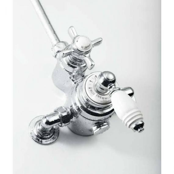 St James Exposed Thermostatic Shower Valve - England Handle- SJ74