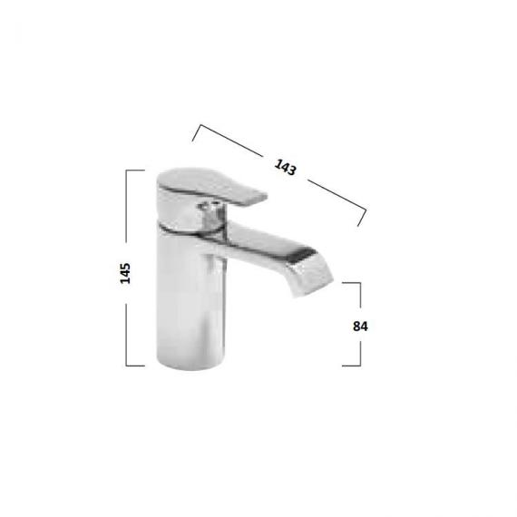 Tavistock Blaze Basin Mixer With Click Waste - Spec