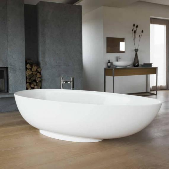 Clearwater Teardrop Grande Clear Stone Freestanding Bath