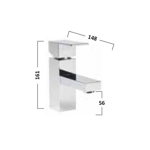 Tavistock Index Mini Basin Mixer With Click Waste - Spec