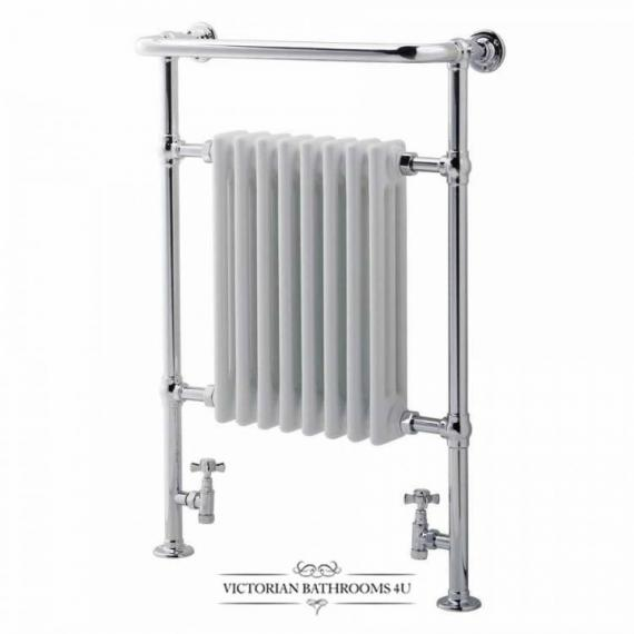 The Victorian Traditional Floorstanding Heated Towel Rail