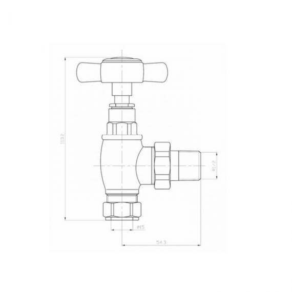 Phoenix Traditional Angled Radiator Valves - Spec
