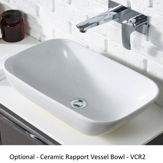 Roper Rhodes Diverge Charcoal Elm 800mm Wall Mounted Unit & Worktop - Rapport Vessel Basin