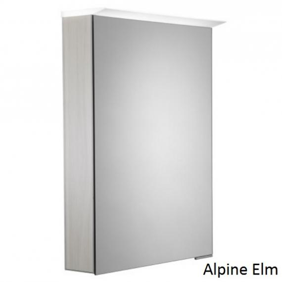 Roper Rhodes Virtue LED Illuminated Aluminium Mirror Cabinet - Alpine Elm
