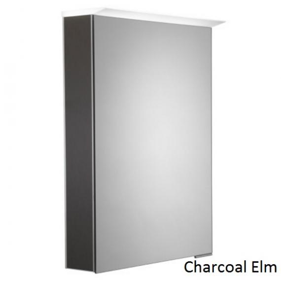 Roper Rhodes Virtue LED Illuminated Aluminium Mirror Cabinet - Charcoal Elm