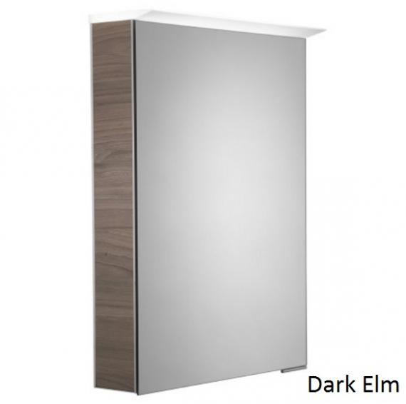 Roper Rhodes Virtue LED Illuminated Aluminium Mirror Cabinet - Dark Elm
