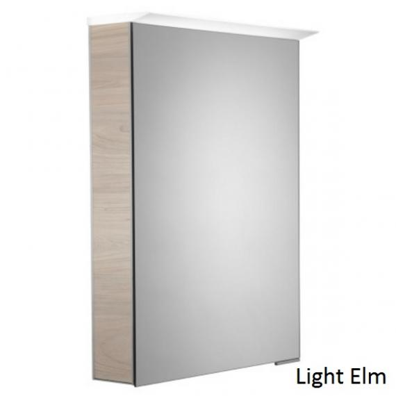 Roper Rhodes Virtue LED Illuminated Aluminium Mirror Cabinet - Light Elm