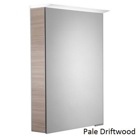 Roper Rhodes Virtue LED Illuminated Aluminium Mirror Cabinet - Pale Driftwood