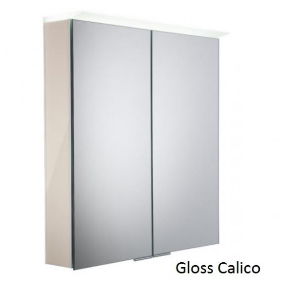 Roper Rhodes Visage LED Illuminated Aluminium Mirror Cabinet - Gloss Calico