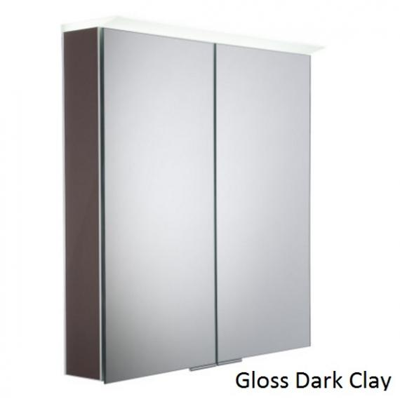 Roper Rhodes Visage LED Illuminated Aluminium Mirror Cabinet - Gloss Dark Clay