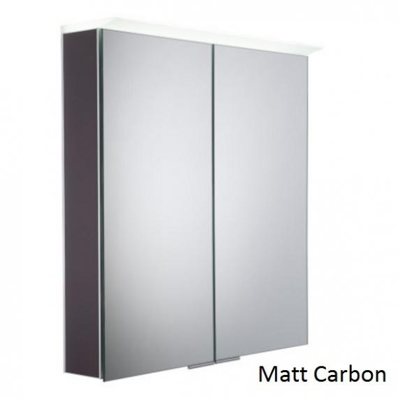 Roper Rhodes Visage LED Illuminated Aluminium Mirror Cabinet - Matt Carbon
