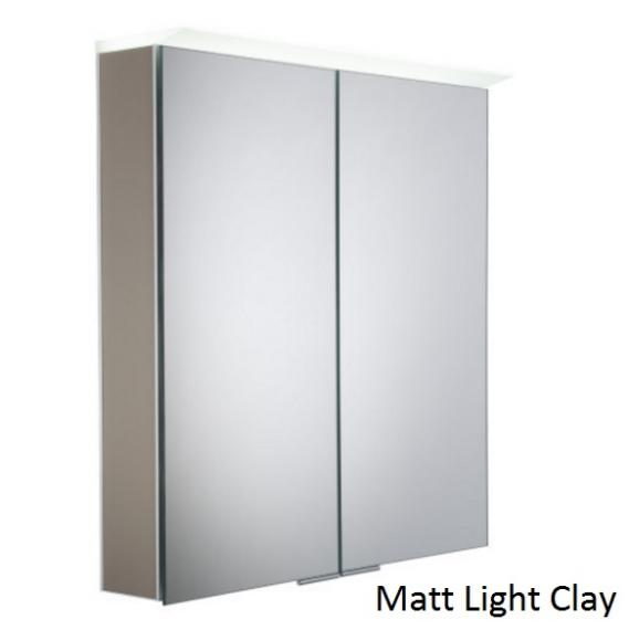 Roper Rhodes Visage LED Illuminated Aluminium Mirror Cabinet - Matt Light Clay
