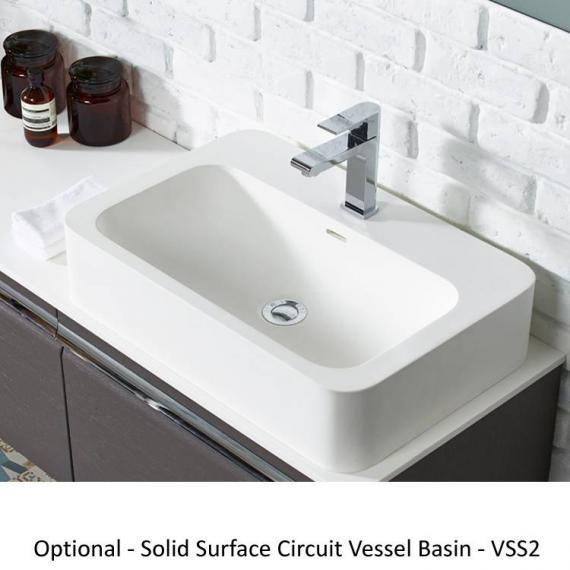 Roper Rhodes Pursuit Alpine Elm 1200mm Vanity Unit & Worktop - Cicuit Vessel Basin