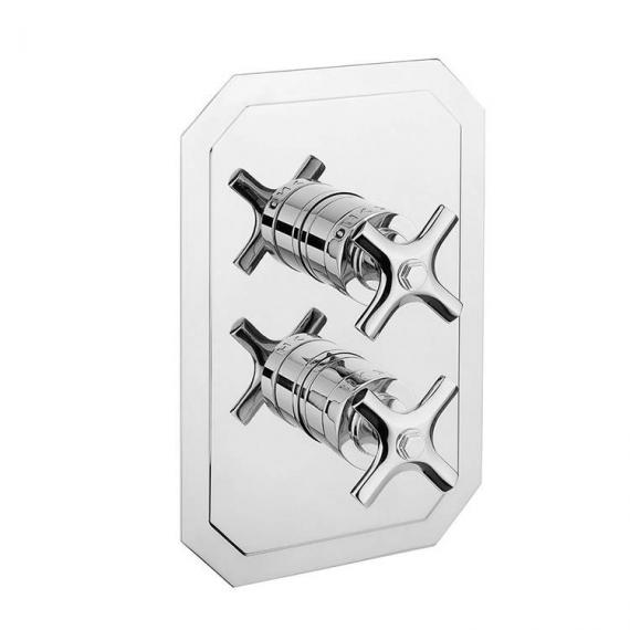Crosswater Waldorf Chrome Crosshead 2500 Shower Valve With 3 Way Diverter