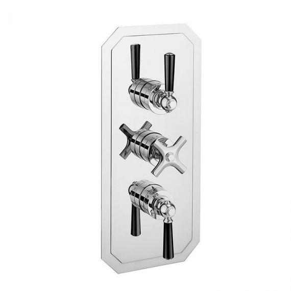 Crosswater Waldorf Black Lever 3000 Shower Valve With 3 Way Diverter