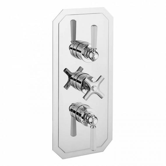 Crosswater Waldorf White Lever 3000 Shower Valve With 3 Way Diverter