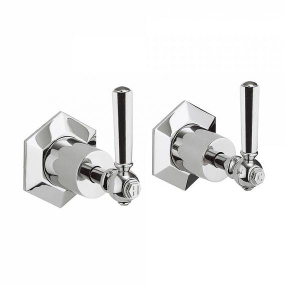 Crosswater Waldorf Chrome Lever Wall Stop Taps