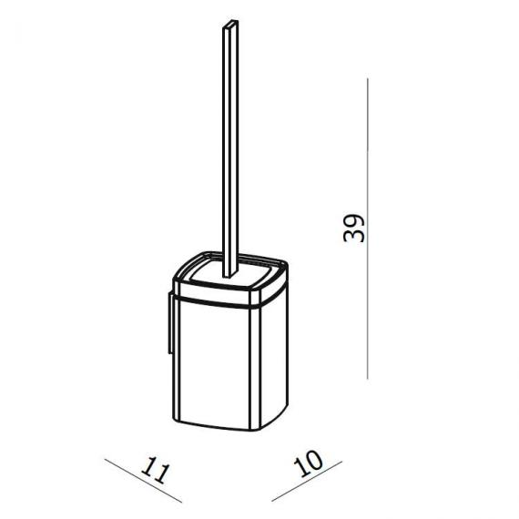 Crosswater Wisp Toilet Brush Holder Specification