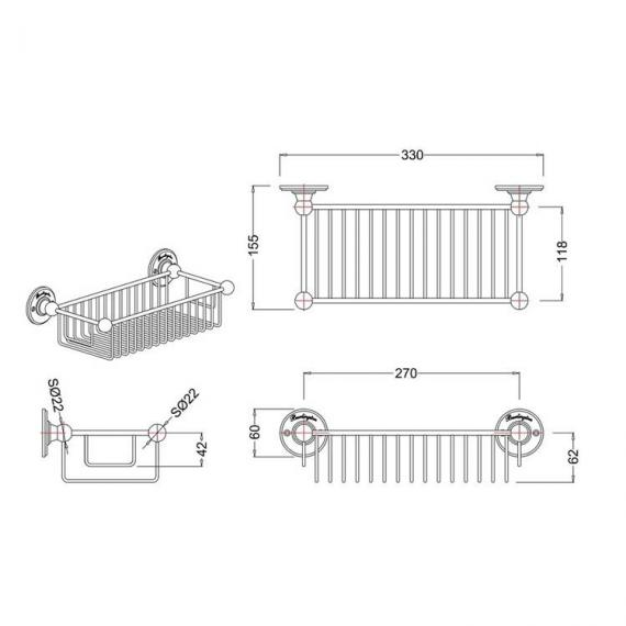 Burlington Deep Rectangular Basket - Spec