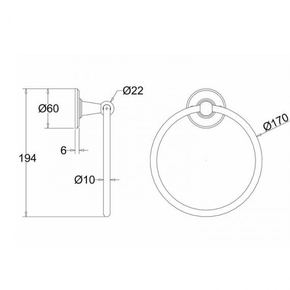 Burlington Towel Ring - Spec