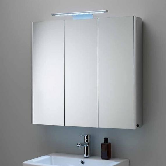 Roper Rhodes Absolute Aluminium Mirror Cabinet With Light
