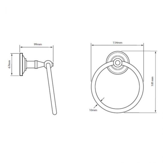 Heritage Clifton Towel Ring Specification