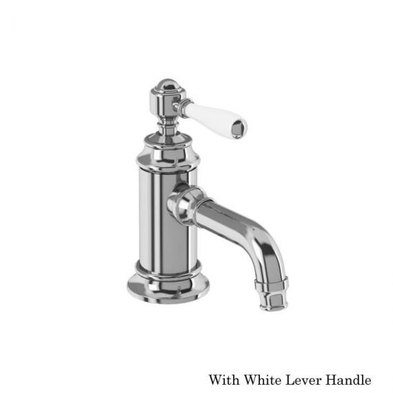 Arcade Chrome Mono Basin Mixer With White Lever Handle