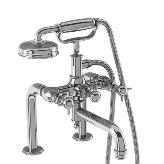 Arcade Chrome Deck Mounted Bath Shower Mixer