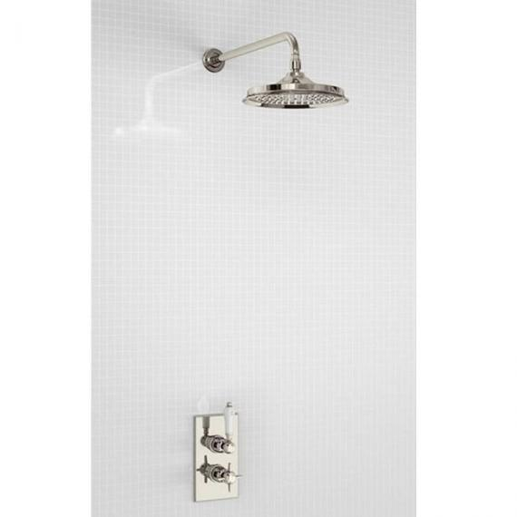 Arcade Nickel Thermostatic Shower Valve & Shower Head Pack