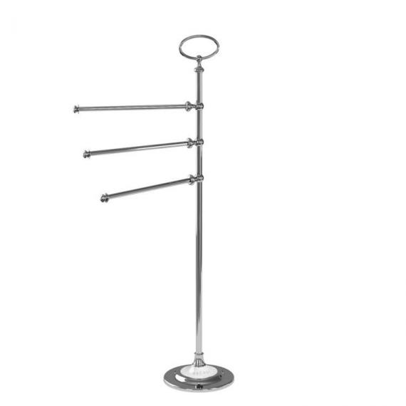 Arcade Chrome Triple Towel Rail Stand