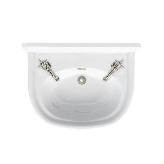 Arcade 500mm Cloakroom Basin - 2 Tap Holes