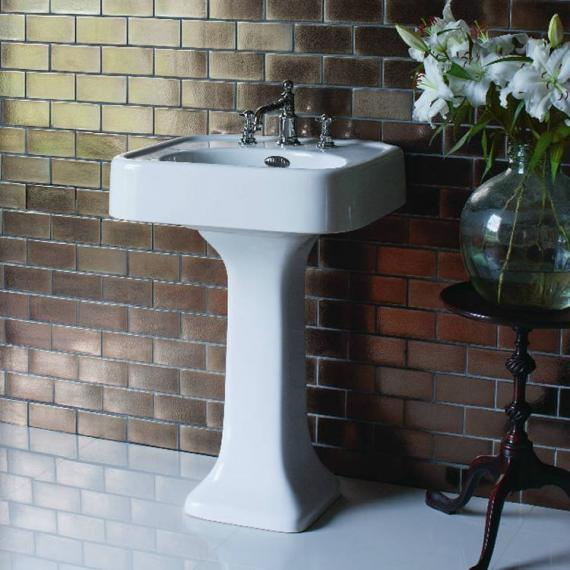 Arcade 600mm Basin With Pedestal